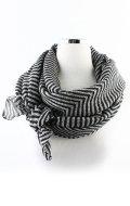 ヘリングボーンスカーフ (ブラック)